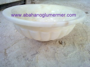 beyaz mermer lavabo em-036 ölçüleri 45x15 cm fiyatı : 450 tl