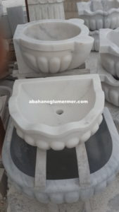 beyaz mermer lavabo em-073 ölçüleri 40x50x25 cm fiyatı : 950 tl