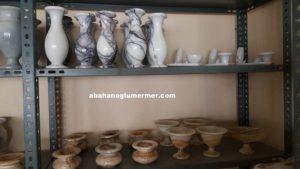 mermerden yapılmış tabak kase