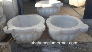 kavun dilimli beyaz mermer kurna ku-089 ölçüleri : 45x25 cm fiyatı : 450 tl